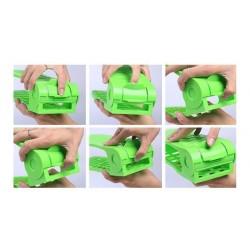 Plastový organizér na topánky - zelený
