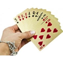 DELUXE Hracie karty zlaté