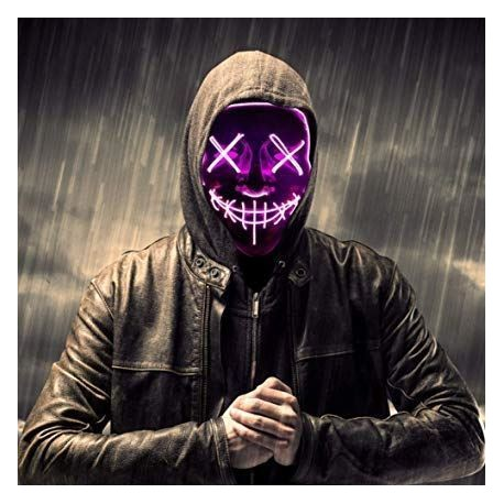 Strašidelná svietiaca maska