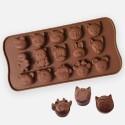 Silikónová forma na čokoládu - zvieratka