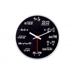 Matematické hodiny - čierne