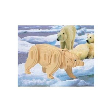 3D puzzle - polárny medvedík