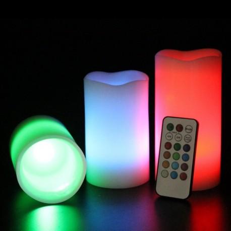 Parafínové sviečky s LED diódou 3ks