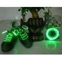 LED šnúrky do topánok Zelená