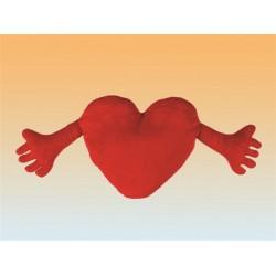 Vankúš srdce s rukami