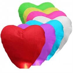 Lampióny štastia 10 kusov tvar srdce