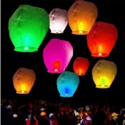Lampióny štastia 10 ks mix farieb