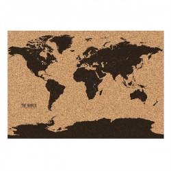 Korková mapa sveta 82 x 58 cm