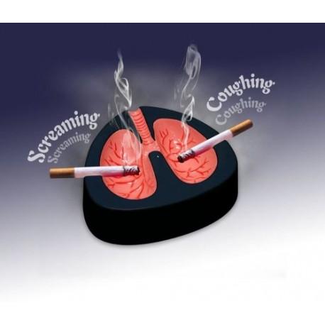 Kašľajúci popolník pľúca