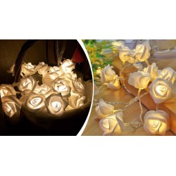 LED svietiace ruže - reťaz