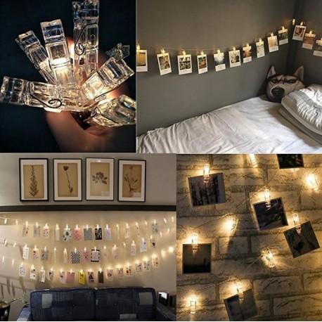 LED svietiace štipce