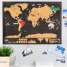 Stieracia mapa sveta DELUXE - čierna