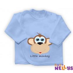 Košieľka so zap. na boku Little Monkey, modrá