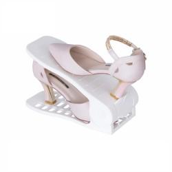 Plastový organizér na topánky - biely