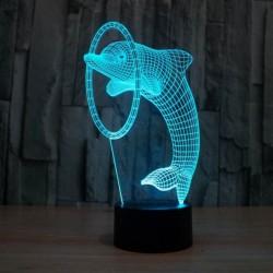 Lampa s 3D ilúziou - Delfín