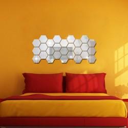 Nálepky na stenu/zrkadlo - viacuholník