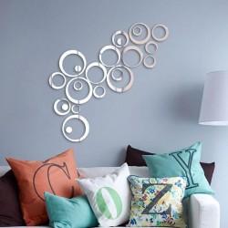 Nálepky na stenu/zrkadlo - kruhy