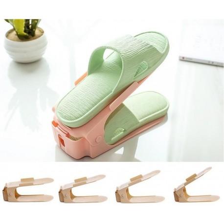 Plastový organizér na topánky - ružový